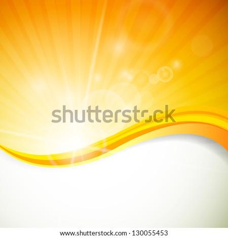 Vector Illustration of a Natural Orange Background - stock vector