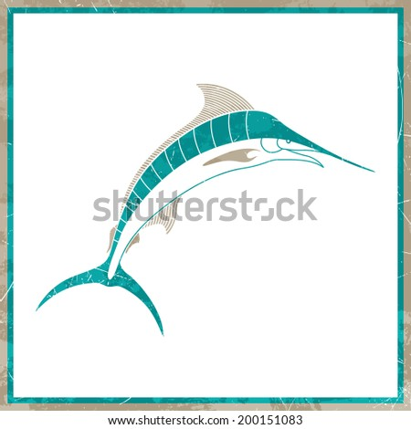 Vector Illustration of a Nautical Background - stock vector