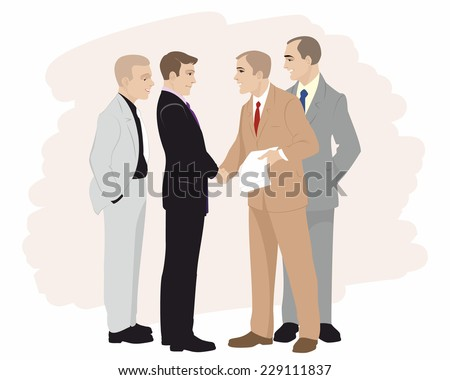 Vector illustration of a partnership in business - stock vector
