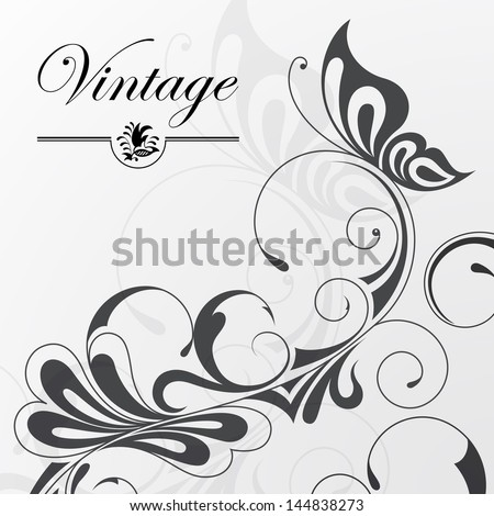 Vector illustration of a patterned background  - stock vector