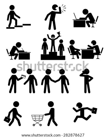 Vector illustration of a people in business - stock vector