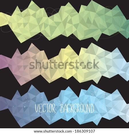 Vector illustration of a poly design background - stock vector