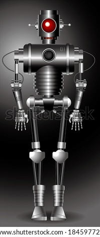 Vector illustration of a robot, the file format for EPS10.0, fully editable. - stock vector