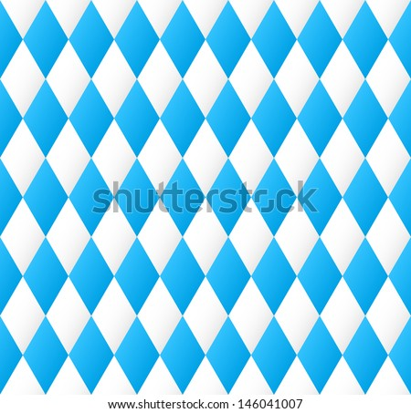 vector illustration of a seamless diamond pattern in blue and white  - stock vector