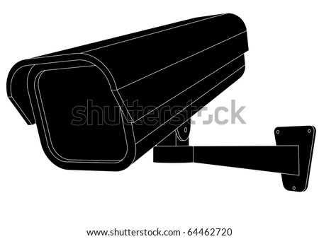vector illustration of a security camera - stock vector
