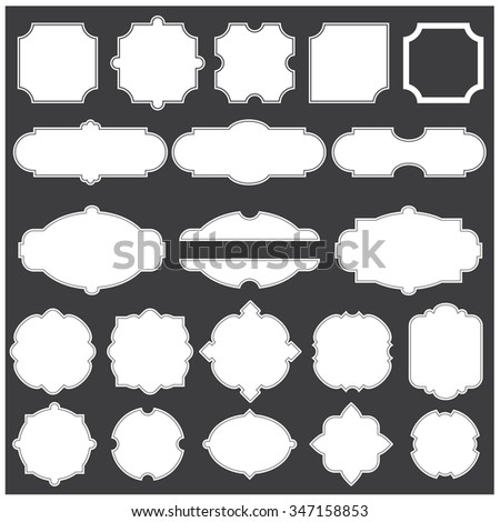 Vector illustration of a set of blank frames for scrapbook, arts and design - stock vector