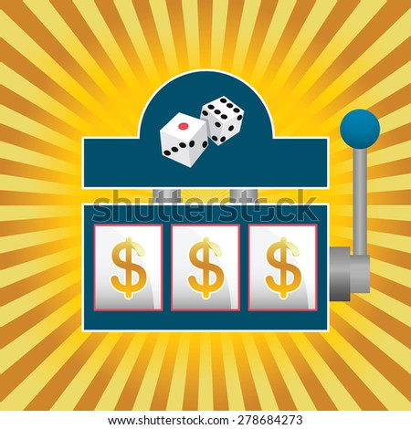 vector illustration of a slot machine - stock vector