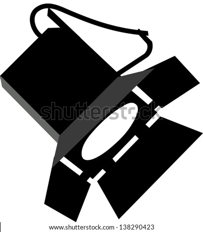 Vector illustration of a stage lighting - stock vector
