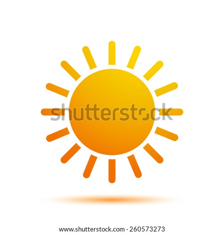 Vector Illustration of a Sun Icon - stock vector