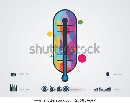 vector illustration of a Thermometer icon  - stock vector