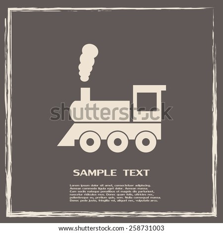 Vector illustration of a tooth of a steam locomotive  - stock vector