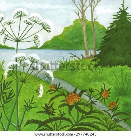 Lake Weeds Stock Vectors & Vector Clip Art | Shutterstock