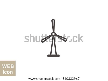 vector illustration of a wind generator icon. - stock vector