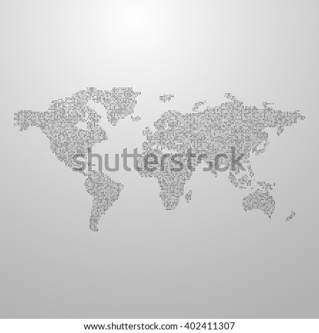 vector illustration of a world map. infographics element design. world global infographic concept. international communication concept. global world infographic vector map. halftone vector world map - stock vector