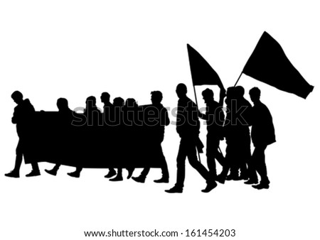 Vector illustration of a young man with a megaphone. Property release is attached to the file - stock vector