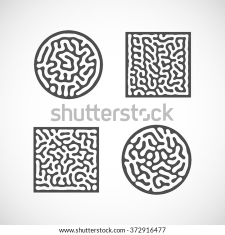 vector illustration of abstract bio shapes - stock vector