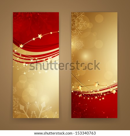 Vector Illustration of Abstract Christmas Banners - stock vector