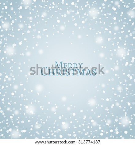 Vector illustration of abstract Christmas snow background - stock vector