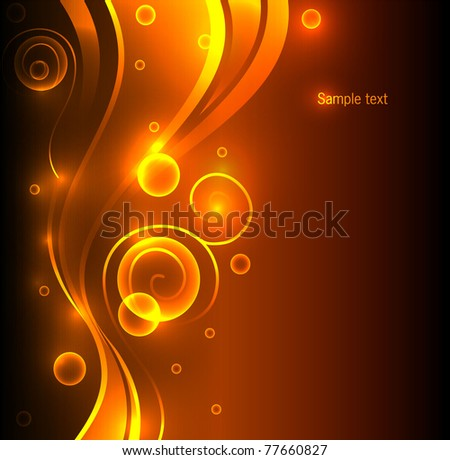 Vector illustration of Abstract color glowing background - stock vector