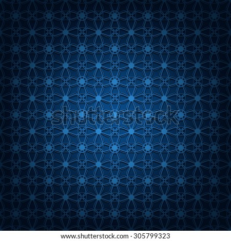 Vector illustration of abstract dark blue background. - stock vector