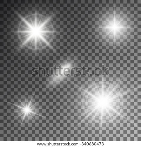 Vector illustration of abstract flare light rays. - stock vector
