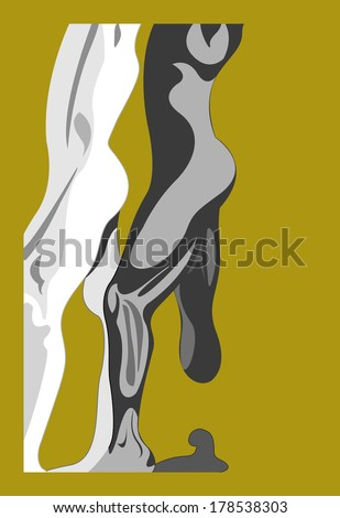 Vector Illustration of Abstract Male Body Profile - stock vector
