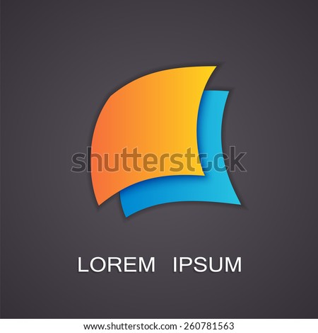 Vector illustration of abstract symbols image - stock vector