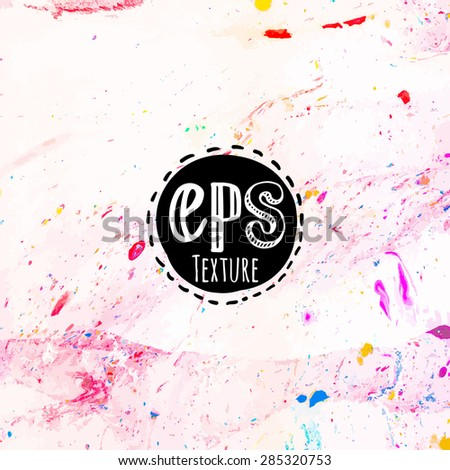Vector illustration of abstract texture of stone. Colorful. Ink smudges on white paper. - stock vector