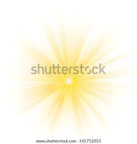 Vector illustration of abstract yellow burst. - stock vector