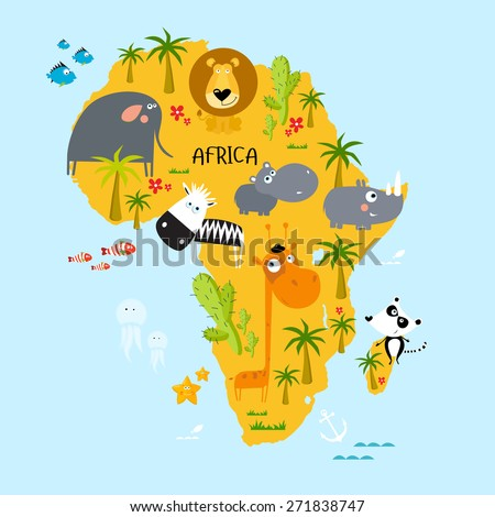 "Vector illustration of ""Africa"" - stock vector"