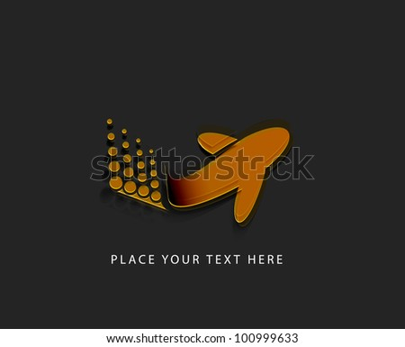 Vector Illustration of airplane icon design. - stock vector