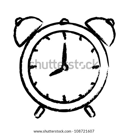 Vector illustration of alarm clock - stock vector