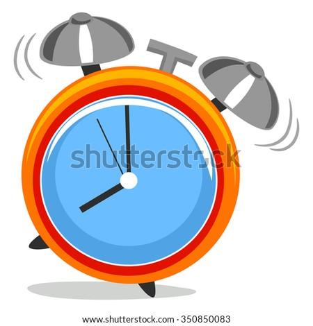 Vector Illustration of Alarm Clock - stock vector