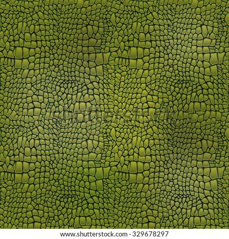 Vector illustration of alligator skin seamless art crocodile - stock vector
