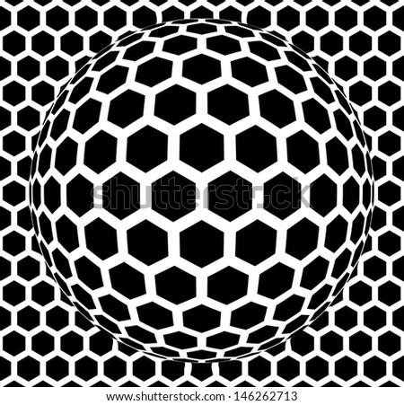 Vector illustration of an abstract background with hexagons. - stock vector