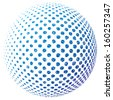 Vector illustration of an abstract dotted sphere. - stock vector