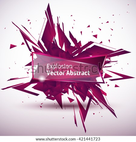 Vector illustration of an abstract explosion. - stock vector