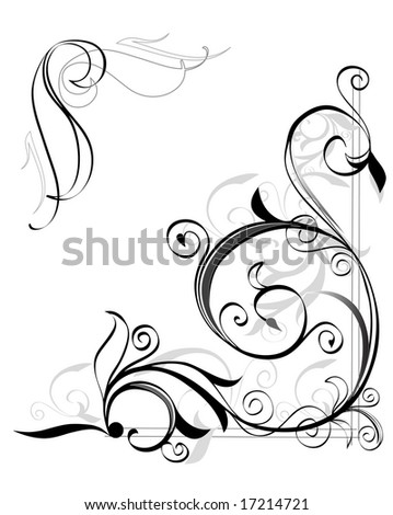 vector illustration of an abstract floral pattern - stock vector