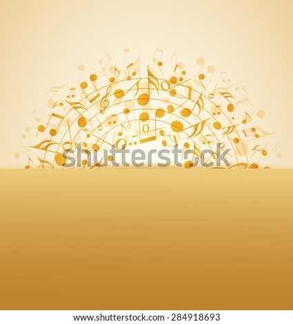 Vector illustration of an abstract music background - stock vector