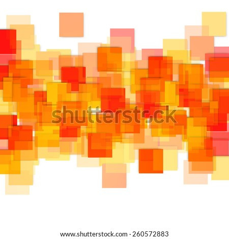 Vector Illustration of an Abstract Square Background - stock vector