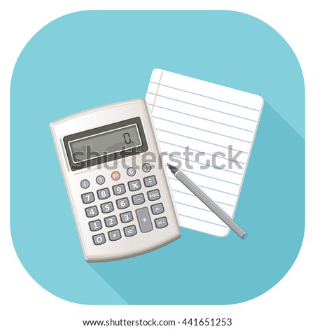 Vector illustration of an book keeping Icon. Accounting concept icon. Accountancy icon. - stock vector