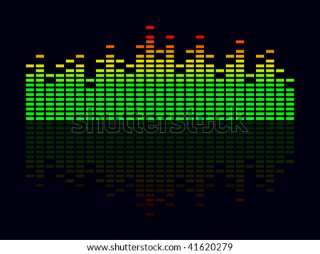 Vector illustration of an colorful equalizer. - stock vector
