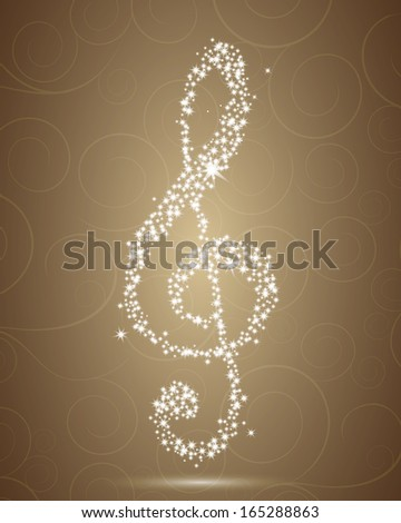 Vector Illustration of an Elegant Clef - stock vector