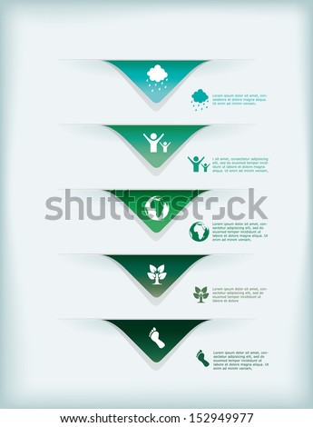Vector illustration of an infographic eco template. - stock vector