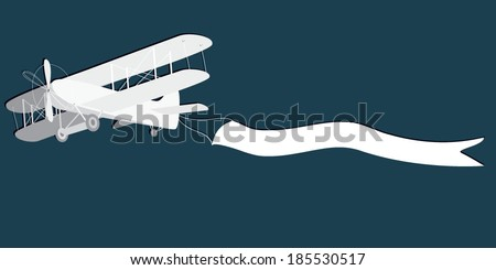 Vector illustration of an old plane  - stock vector