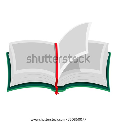 Vector Illustration of an Open Book with Blank Pages - stock vector