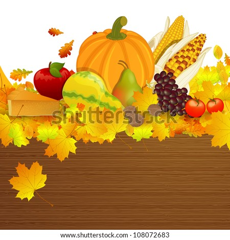 Vector Illustration of an Thanksgiving Background - stock vector