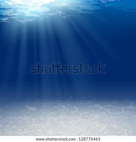 Vector Illustration of an Underwater Background - stock vector