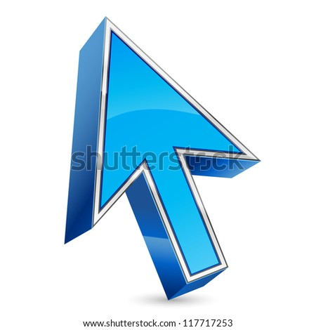 vector illustration of arrow mouse pointer - stock vector