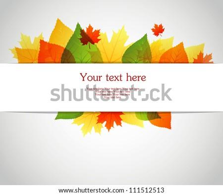 Vector illustration of Autumn leafs back - stock vector